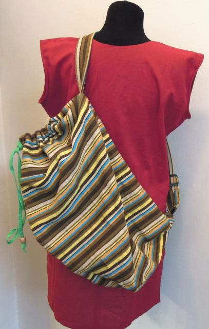 Рюкзак-мешок с одной лямкой в ассорт.  (Индия) I.